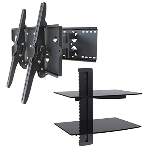 2xhome New Tv Wall Mount Bracket Dual Arm Amp Two 2