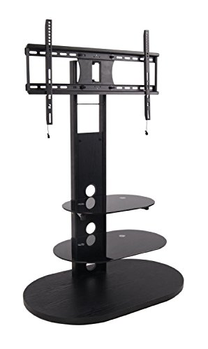 2xhome Tv Stand With Shelves Tempered Glass Shelf
