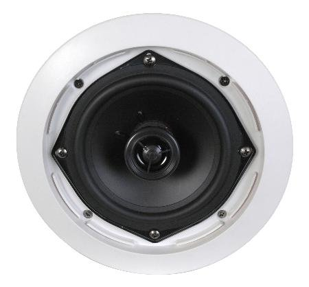 5-14inch-Two-Way-Ceiling-Speaker-Pair-25w-Rms-Polypropylene-Cone-Woofer-Rubber-Surround-0-0