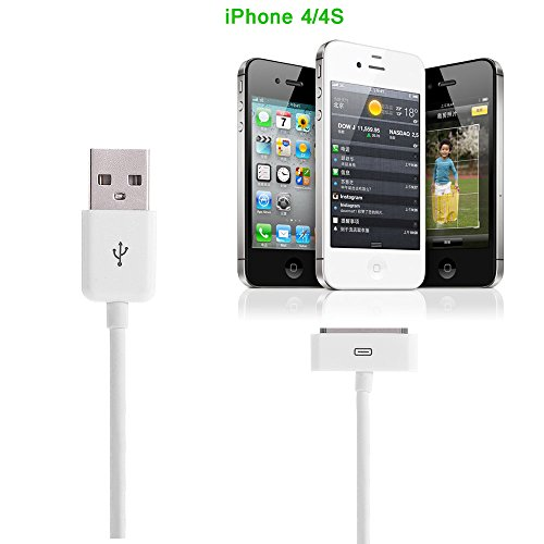 Apple-MFi-Certified-Aibocn-30-Pin-Sync-Charging-Data-Cable-for-iPhone-4S-4-iPad-iPod-Classic-iPod-Nano-iPod-Touch-White-12M-4-Feet-0-1