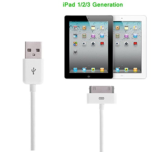 Apple-MFi-Certified-Aibocn-30-Pin-Sync-Charging-Data-Cable-for-iPhone-4S-4-iPad-iPod-Classic-iPod-Nano-iPod-Touch-White-12M-4-Feet-0-3