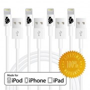 Apple-MFi-Certified-iPhone-6-Cord-Charger-Lightning-Connector-Cable-by-Trusted-Cables-4-Pack-8-Pin-to-USB-Cable-3ft-1m-for-iPhone-6-6Plus-5s-5c-5-iPad-Air-Air2-Mini-Mini2-iPad-4th-Gen-iPod-Touch-5th-g-0