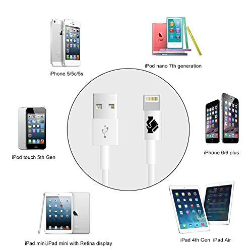 Apple-MFi-Certified-iPhone-6-Cord-Charger-Lightning-Connector-Cable-by-Trusted-Cables-4-Pack-8-Pin-to-USB-Cable-3ft-1m-for-iPhone-6-6Plus-5s-5c-5-iPad-Air-Air2-Mini-Mini2-iPad-4th-Gen-iPod-Touch-5th-g-0-2