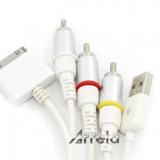 Arrela-White-Composite-AV-Video-to-TV-RCA-Cable-USB-Charger-For-iPad-iPod-Touch-iPhone-0-3