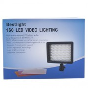 Bestlight-Ultra-High-Power-160-LED-Video-Light-Panel-with-Shoe-Adapter-for-Canon-Nikon-Olympus-Pentax-DSLR-and-Camcorders-0-0