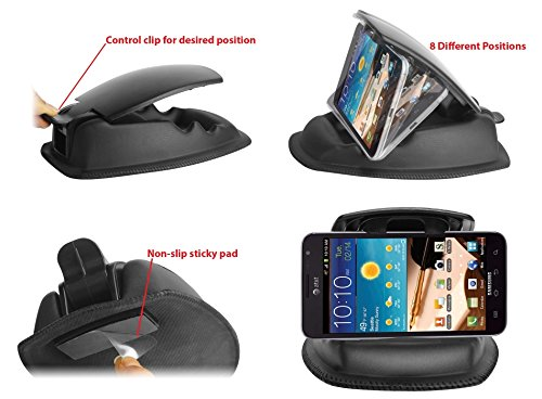ChargerCity-Hippo-Series-Universal-Smartphone-GPS-NonSlip-Dashboard-Beanbag-Friction-Mount-for-Garmin-Nuvi-TomTom-Via-GO-Start-Live-XXL-XL-Magellan-Roadmate-GPS-Fit-all-35-43-5-6-GPS-Includes-ChargerC-0-4