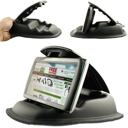 ChargerCity-Hippo-Series-Universal-Smartphone-GPS-NonSlip-Dashboard-Beanbag-Friction-Mount-for-Garmin-Nuvi-TomTom-Via-GO-Start-Live-XXL-XL-Magellan-Roadmate-GPS-Fit-all-35-43-5-6-GPS-Includes-ChargerC-0