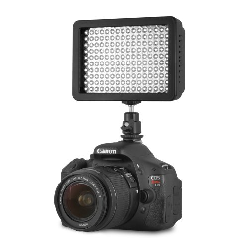 Chromo-Inc-160-LED-CI-160-Dimmable-Ultra-High-Power-Panel-Digital-Camera-Camcorder-Video-Light-LED-Light-for-Canon-Nikon-Pentax-PanasonicSONY-Samsung-and-Olympus-Digital-SLR-Cameras-0