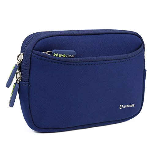 Evecase-Universal-Portable-Case-Bag-Cover-with-Extra-Front-Pocket-for-Garmin-nvi-2595LMT-5-Inch-Portable-Bluetooth-GPS-Navigator-with-Lifetime-Maps-and-Traffic-Dark-Blue-0