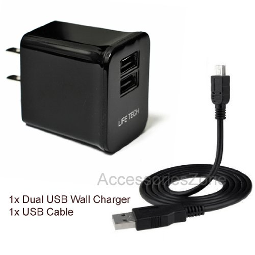 For-TomTom-N14644-125-XL-XXL-GO-GPS-10W-2100mAh-Dual-USB-Ports-Wall-Home-House-AC-Charger-w-USB-Cable-0