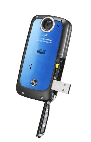 GE-DVX-WaterproofShockproof-1080P-Pocket-Video-Camera-Aqua-Blue-with-2GB-SD-Card-0-1