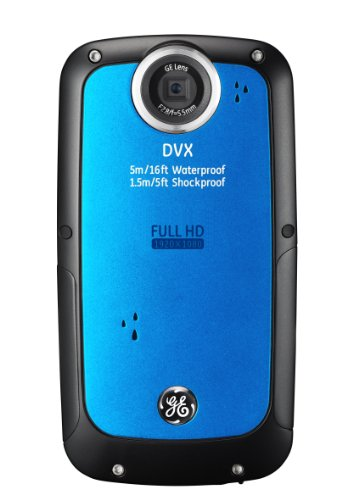 GE-DVX-WaterproofShockproof-1080P-Pocket-Video-Camera-Aqua-Blue-with-2GB-SD-Card-0