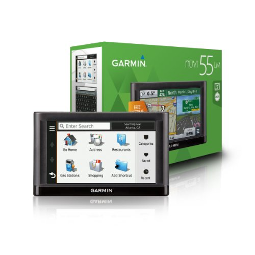 Garmin-nvi-55LM-GPS-Navigators-System-with-Spoken-Turn-By-Turn-Directions-Preloaded-Maps-and-Speed-Limit-Displays-Lower-49-US-States-0