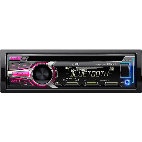 JVC-In-Dash-Bluetooth-CD-Stereo-Receiver-Detachable-Face-and-USB-Port-with-Custom-Color-Illumination-6-Key-Presets-Aux-Input-USB-Port-for-iPhone-iHeartRadio-Link-Capability-and-Pandora-Internet-Radio–0-0