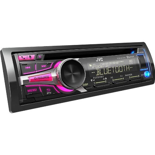 JVC-In-Dash-Bluetooth-CD-Stereo-Receiver-Detachable-Face-and-USB-Port-with-Custom-Color-Illumination-6-Key-Presets-Aux-Input-USB-Port-for-iPhone-iHeartRadio-Link-Capability-and-Pandora-Internet-Radio–0-3