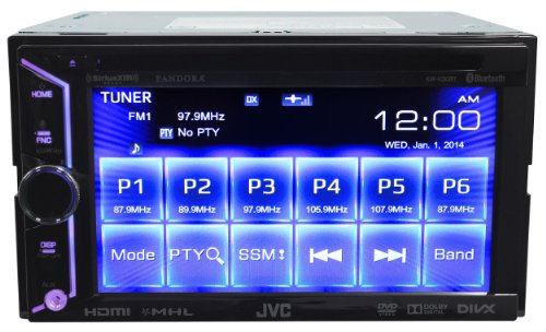 JVC-KW-V30BT-Double-Din-In-Dash-Car-DVD-Monitor-Receiver-with-a-61-Touch-ScreenBuilt-In-Bluetooth-HDMI-Input-PandoraiHeartRadio-Controls-and-iPhoneAndroid-Integration-0-1