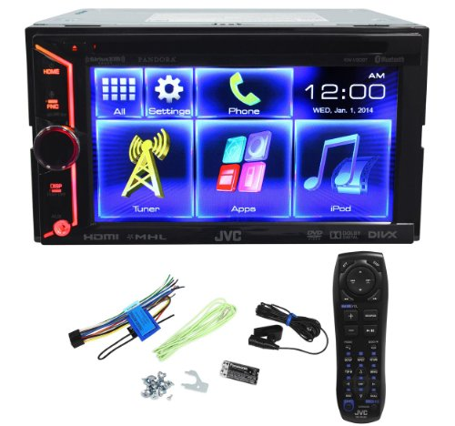 JVC-KW-V30BT-Double-Din-In-Dash-Car-DVD-Monitor-Receiver-with-a-61-Touch-ScreenBuilt-In-Bluetooth-HDMI-Input-PandoraiHeartRadio-Controls-and-iPhoneAndroid-Integration-0