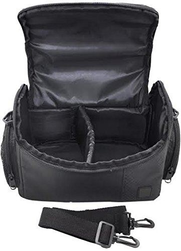 Large-Digital-Camera-Video-Padded-Carrying-Bag-Case-for-Nikon-Sony-Pentax-Olympus-Panasonic-Samsung-Canon-EOS-M-SL1-T1I-T3-T4I-T5I-XT-XTi-T5-Cameras-Many-More-eCost-Microfiber-Cloth-0-1