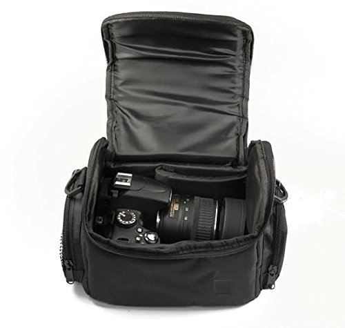 Large-Digital-Camera-Video-Padded-Carrying-Bag-Case-for-Nikon-Sony-Pentax-Olympus-Panasonic-Samsung-Canon-EOS-M-SL1-T1I-T3-T4I-T5I-XT-XTi-T5-Cameras-Many-More-eCost-Microfiber-Cloth-0-2