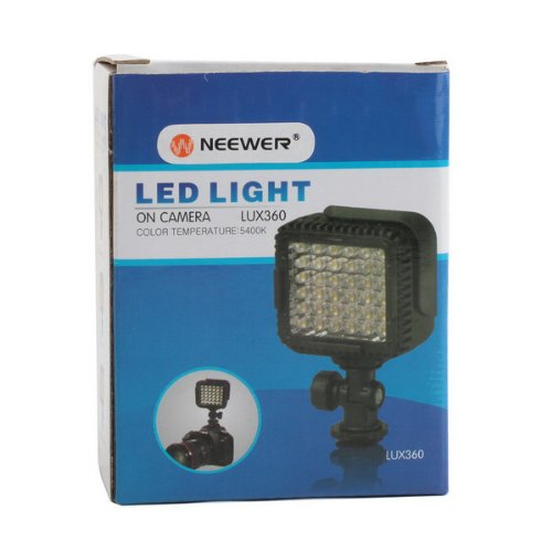 Neewer-CN-LUX360-5600K-Ultra-Bright-36-Dimmable-LED-Camera-Video-Light-with-Optical-Filter-for-DV-Camcorder-Canon-Nikon-Olympus-Pentax-and-Other-DSLR-Cameras-0-0