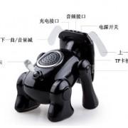 Newest-Cartoon-Robot-Dog-Bluetooth-Speakers-Mini-Home-Theater-Audion-Card-Speaker-Mic-for-iPad-Phone-Samsung-Tablet-Stereo-EquipmentBlack-0-2