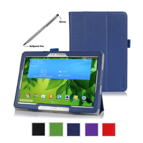 ProCase-Samsung-Galaxy-Tab-PRO-101-Tablet-Case-with-bonus-stylus-pen-Tri-Fold-Smart-Cover-Stand-Case-for-Galaxy-TabPRO-101-inch-SM-T520T525-Navy-Dark-Blue-0