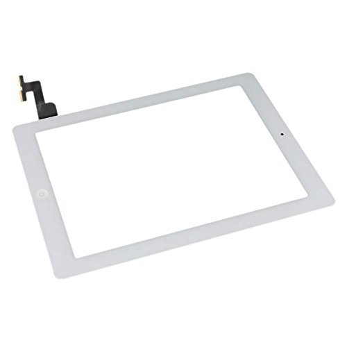 Compatible Front Panel Touch Screen Glass Digitizer for Apple iPad 2 Tools White