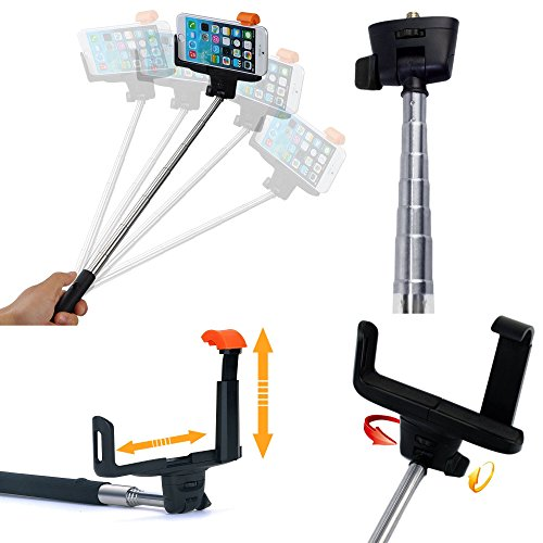 smart adjustable extendable wireless bluetooth remote camera shooting shutter. Black Bedroom Furniture Sets. Home Design Ideas
