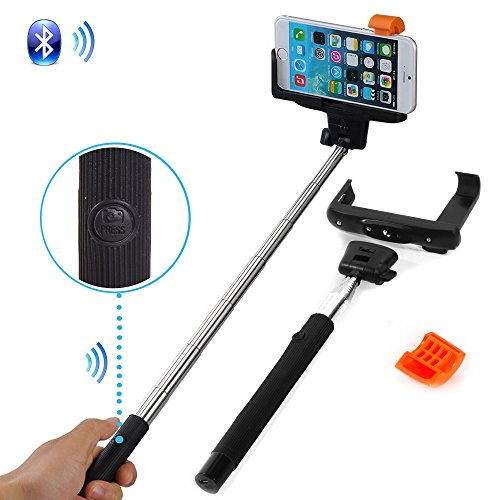 smart adjustable extendable wireless bluetooth remote camera shooting shutter monopod handheld. Black Bedroom Furniture Sets. Home Design Ideas