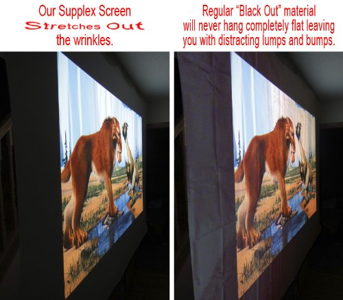 120-Inch-Spandex-Projector-Screen-5×9-169-3D-DLP-Ready-Portable-Lightweight-Wrinkle-Free-with-both-Front-RearBacklit-Projection-Compare-to-Favi-Epson-Da-Lite-Goo-Systems-Elite-Screens-Camp-Chef-Mustan-0-3