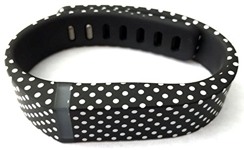 1pc Small S Black with White Dots Spots Replacement Band With Clasp
