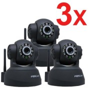 3-Pack-Foscam-New-Version-FI8918W-Pan-Tilt-Wireless-IP-Camera-Infrared-Night-Vision-2-Way-Audio-Motion-Detection-Email-Alert-Black-0