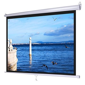 120 16 9 motorized projector screen remote control black for Motorized home theater screen
