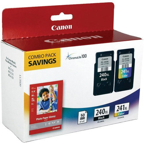 Canon-Office-Products-PG-240XLCL-241XL-with-Canon-GP502-Glossy-Photo-Paper-Combo-Pack-Ink-0
