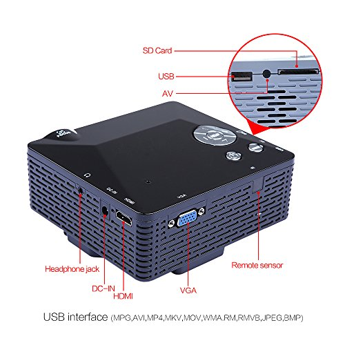 Dbpower Bl  Portable Mini Led Projector With Usb Sd Vga