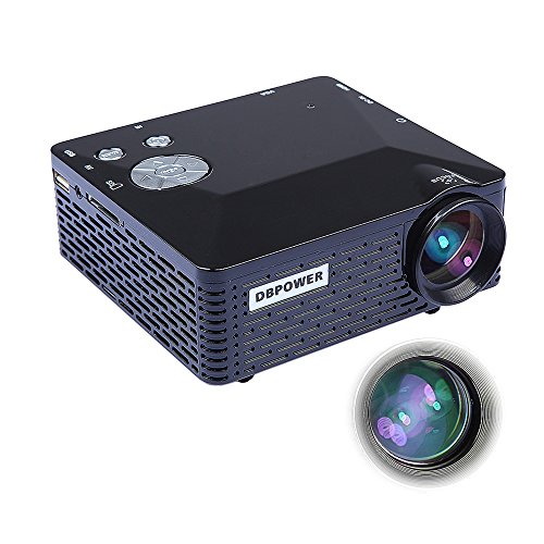 Dbpower bl 18 portable mini led projector with usb sd vga for Mini usb projector for mobile