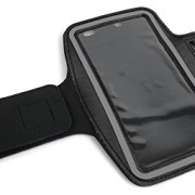 DURAGADGET-Exclusive-Unisex-Sports-Armband-in-Black-Running-Cycling-Gym-Smartphone-Case-for-The-NEW-Microsoft-Lumia-540-2015-Release-0-0