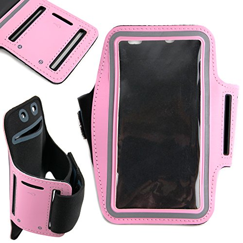 DURAGADGET-Exclusive-Unisex-Sports-Armband-in-Pink-Running-Cycling-Gym-Smartphone-Case-for-The-NEW-Microsoft-Lumia-540-2015-Release-0-6
