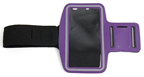 DURAGADGET-Exclusive-Unisex-Sports-Armband-in-Purple-Running-Cycling-Gym-Smartphone-Case-for-The-NEW-Microsoft-Lumia-540-2015-Release-0-0