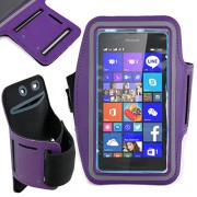 DURAGADGET-Exclusive-Unisex-Sports-Armband-in-Purple-Running-Cycling-Gym-Smartphone-Case-for-The-NEW-Microsoft-Lumia-540-2015-Release-0