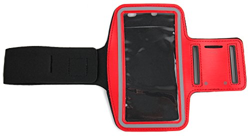 DURAGADGET-Exclusive-Unisex-Sports-Armband-in-Red-Running-Cycling-Gym-Smartphone-Case-for-The-NEW-Microsoft-Lumia-540-2015-Release-0-0