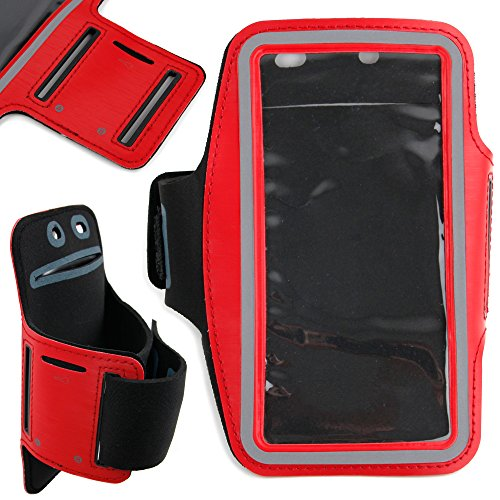 DURAGADGET-Exclusive-Unisex-Sports-Armband-in-Red-Running-Cycling-Gym-Smartphone-Case-for-The-NEW-Microsoft-Lumia-540-2015-Release-0-6