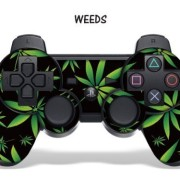 Designer-Skin-for-Playstation-3-Remote-Controller-Weeds-Black-0