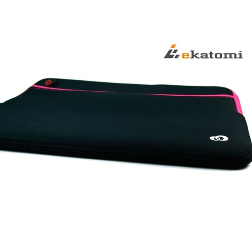 Glove-2-MAGENTA-HOT-PINK-BLACK-Universal-13-inch-Laptop-Bag-Sleeve-for-Lenovo-IdeaPad-Yoga-13-Bonus-Ekatomi-screen-cleaner-0-2