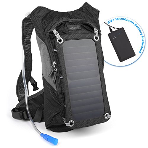 Ivation 7w Solar Panel Backpack 1 8l Hydration Bladder