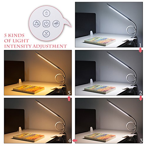 Kedsum Dimmable Led Desk Lamp 5 Lighting Modes 5 Level