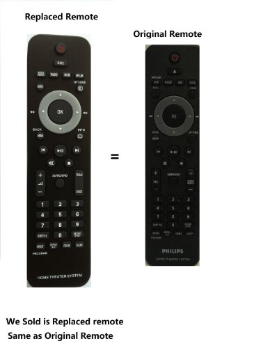 NEW-PHILIPS-HOME-THEATER-Replaced-Remote-Control-for-Philips-HTS2200-HSB2351-HSB2351F7-HTS3276-HTS3371-HTS3378-HTS3371D-HTS3371DF7-HTS3371DF7B-HTS3371DF7E-HTS3372D-HTS3372DF7-HTS3372DF7B-HTS3264D-HTS3-0