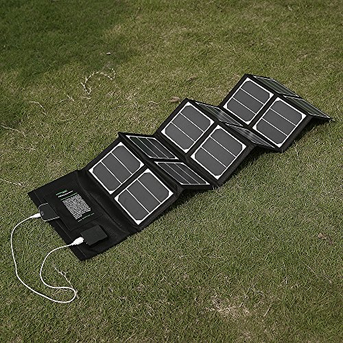New-Release-Poweradd-High-Efficient-40W-Foldable-Solar-Panel-Portable-Solar-Charger-USB-Port-18V-DC-Output-for-iPhones-iPads-Samsung-Galaxy-Phones-Acer-Asus-Dell-HP-Toshiba-Lenovo-Notebooks-Laptops-an-0-1