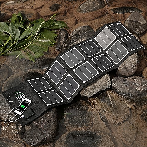New-Release-Poweradd-High-Efficient-40W-Foldable-Solar-Panel-Portable-Solar-Charger-USB-Port-18V-DC-Output-for-iPhones-iPads-Samsung-Galaxy-Phones-Acer-Asus-Dell-HP-Toshiba-Lenovo-Notebooks-Laptops-an-0-2