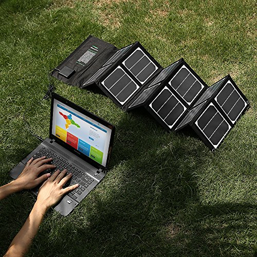 New-Release-Poweradd-High-Efficient-40W-Foldable-Solar-Panel-Portable-Solar-Charger-USB-Port-18V-DC-Output-for-iPhones-iPads-Samsung-Galaxy-Phones-Acer-Asus-Dell-HP-Toshiba-Lenovo-Notebooks-Laptops-an-0-4